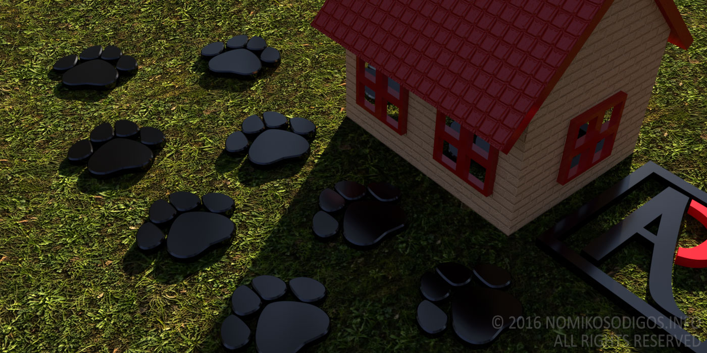 Animal footsteps outside a house